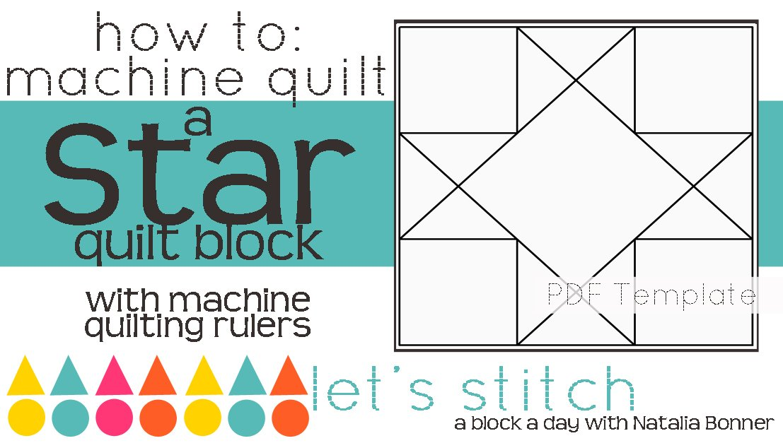 Let's Stitch - A Block a Day With Natalia Bonner - PDF - Star