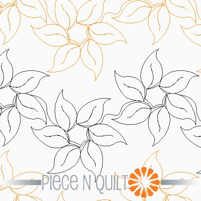 Sunny Sunflower Pantograph Pattern - Paper