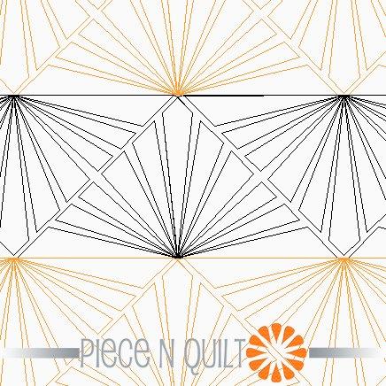 Sunrise Pantograph Pattern - Digital