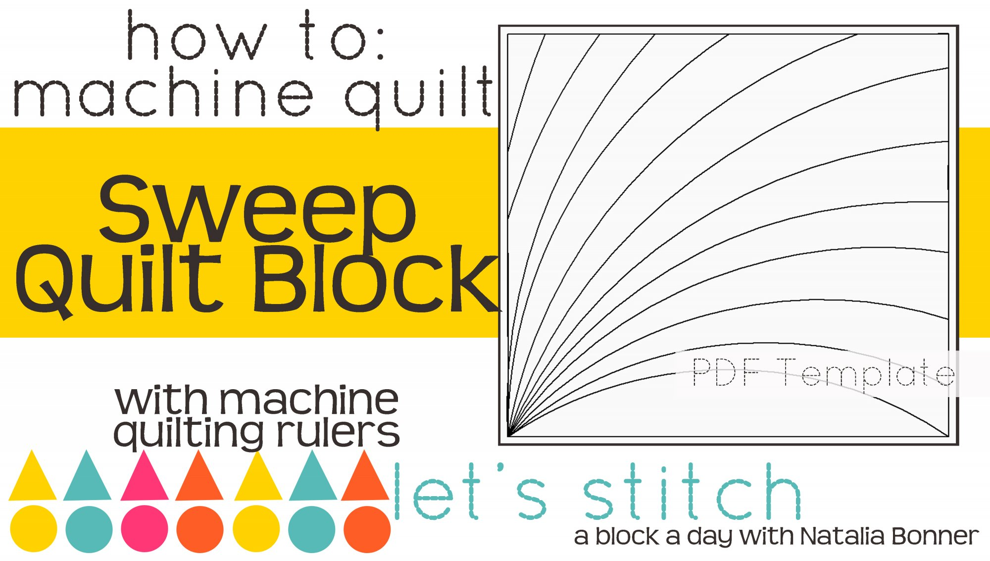 Let's Stitch - A Block a Day With Natalia Bonner - PDF - Sweep