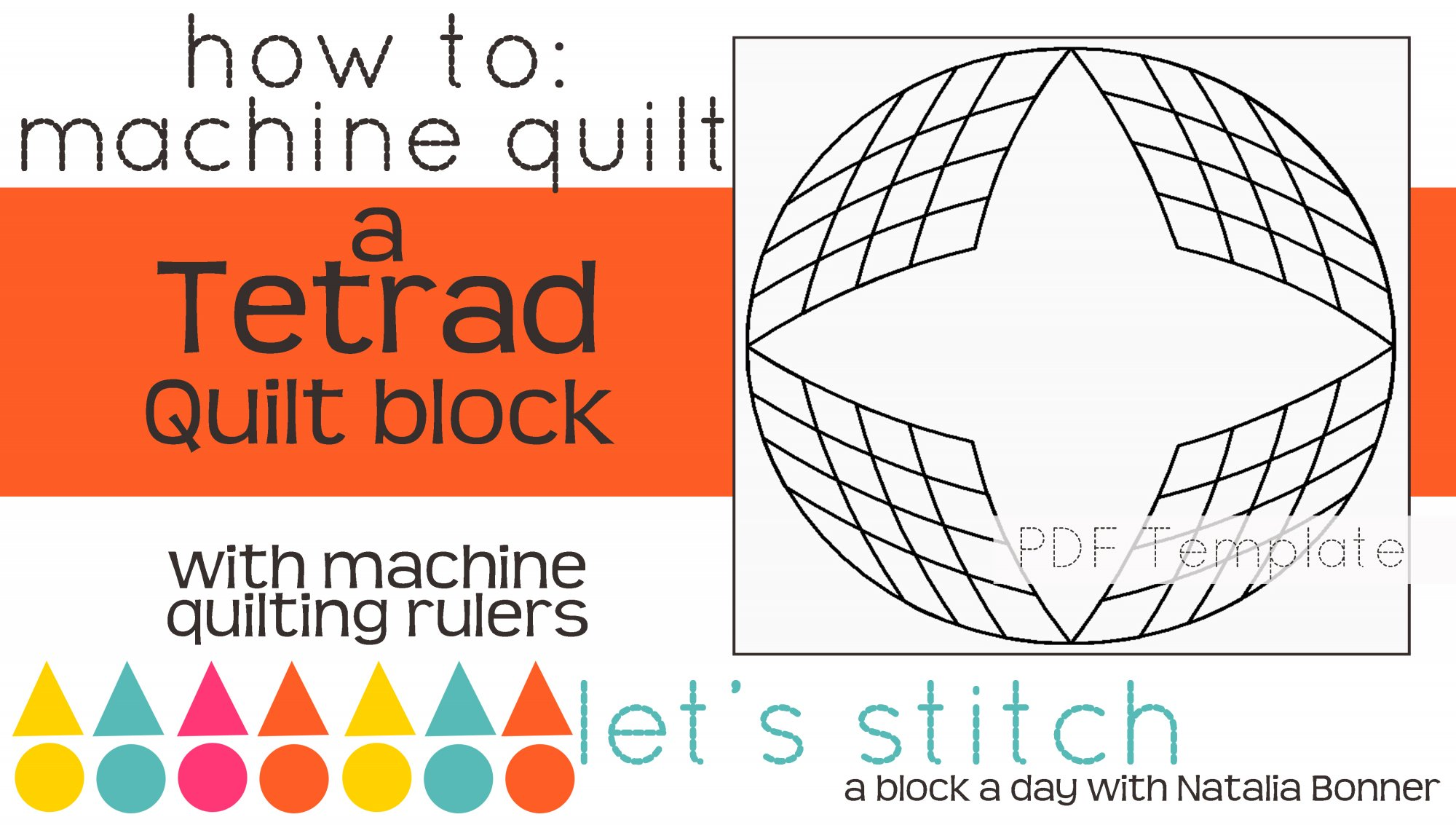 Let's Stitch - A Block a Day With Natalia Bonner - PDF - Tetrad