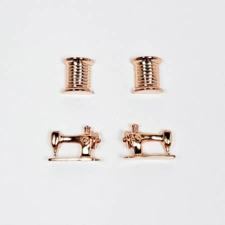 Thread & Machine Earring Set of 2 Rose Gold