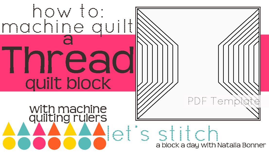 Let's Stitch - A Block a Day With Natalia Bonner - PDF - Thread