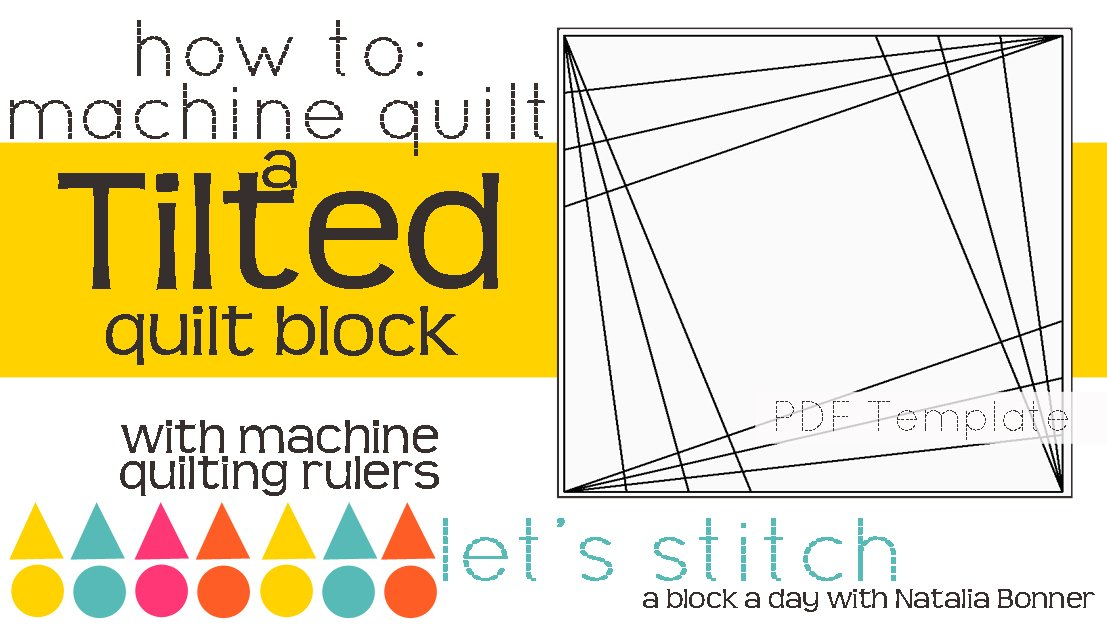 Let's Stitch - A Block a Day With Natalia Bonner - PDF - Tilted