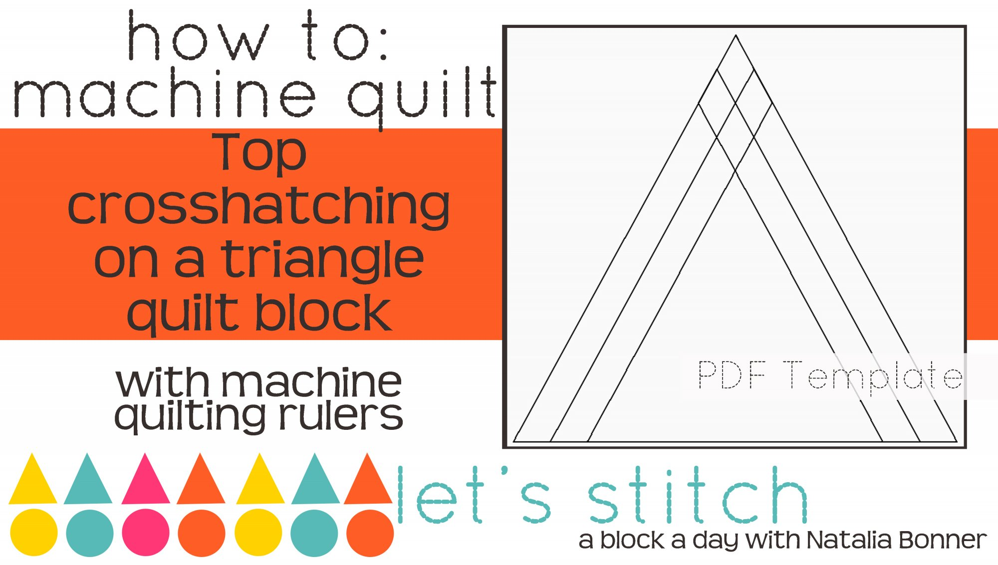 Let's Stitch - A Block a Day With Natalia Bonner - PDF - Top Crosshatching on a Triangle