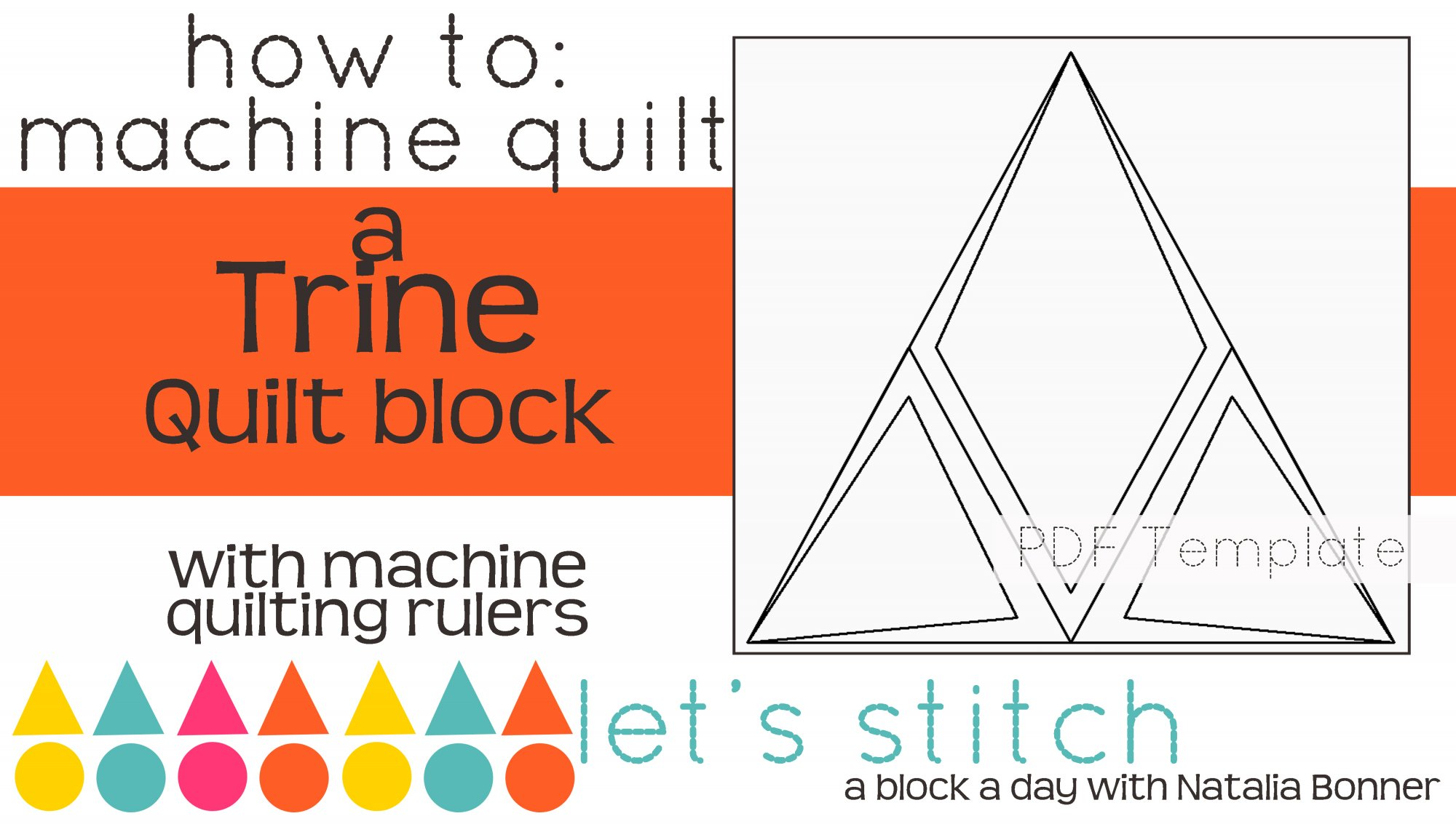 Let's Stitch - A Block a Day With Natalia Bonner - PDF - Trine