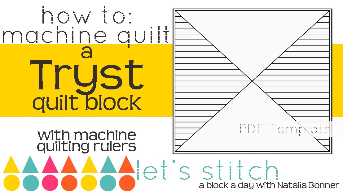 Let's Stitch - A Block a Day With Natalia Bonner - PDF - Tryst