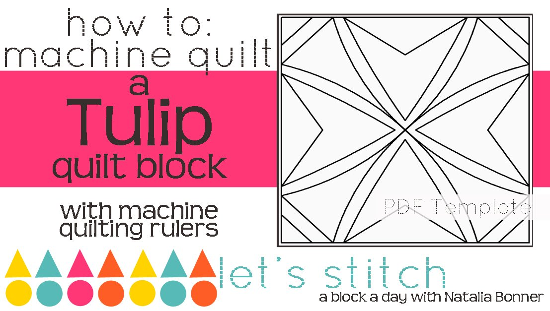 Let's Stitch - A Block a Day With Natalia Bonner - PDF - Tulip