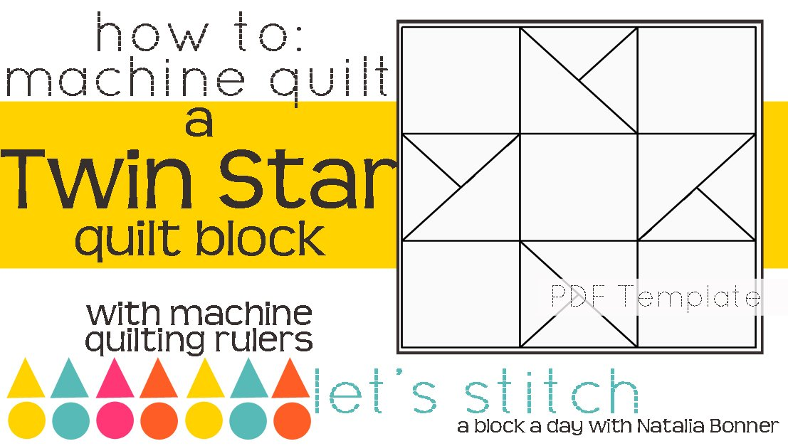 Let's Stitch - A Block a Day With Natalia Bonner - PDF - Twin Star