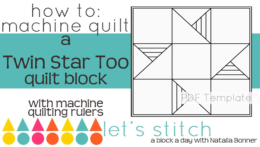 Let's Stitch - A Block a Day With Natalia Bonner - PDF - Twin Star Too