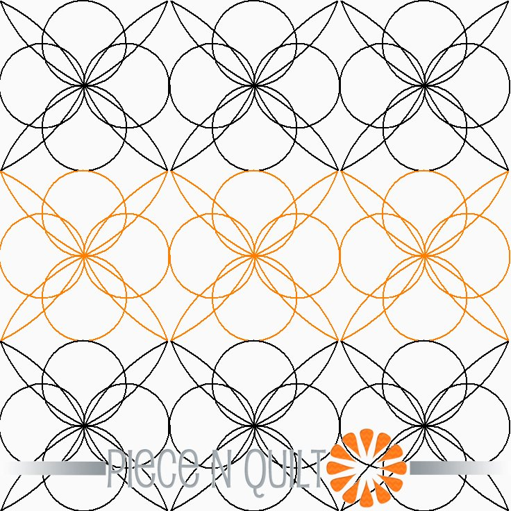 Urban Quarterfoil Pantograph Pattern - Digital