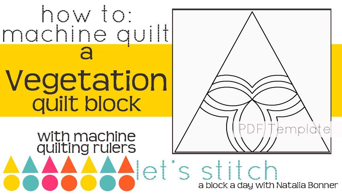 Let's Stitch - A Block a Day With Natalia Bonner - PDF - Vegetation