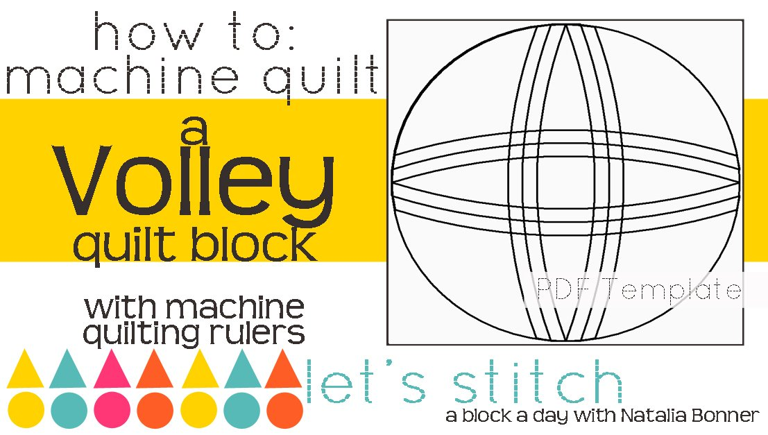 Let's Stitch - A Block a Day With Natalia Bonner - PDF - Volley