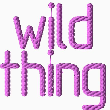 Wild Thing Embroidery