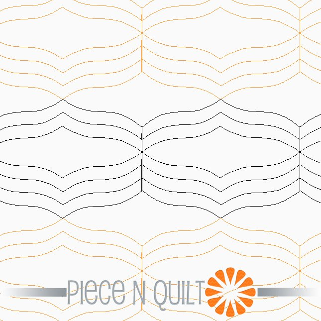 Wings Pantograph Pattern - Paper