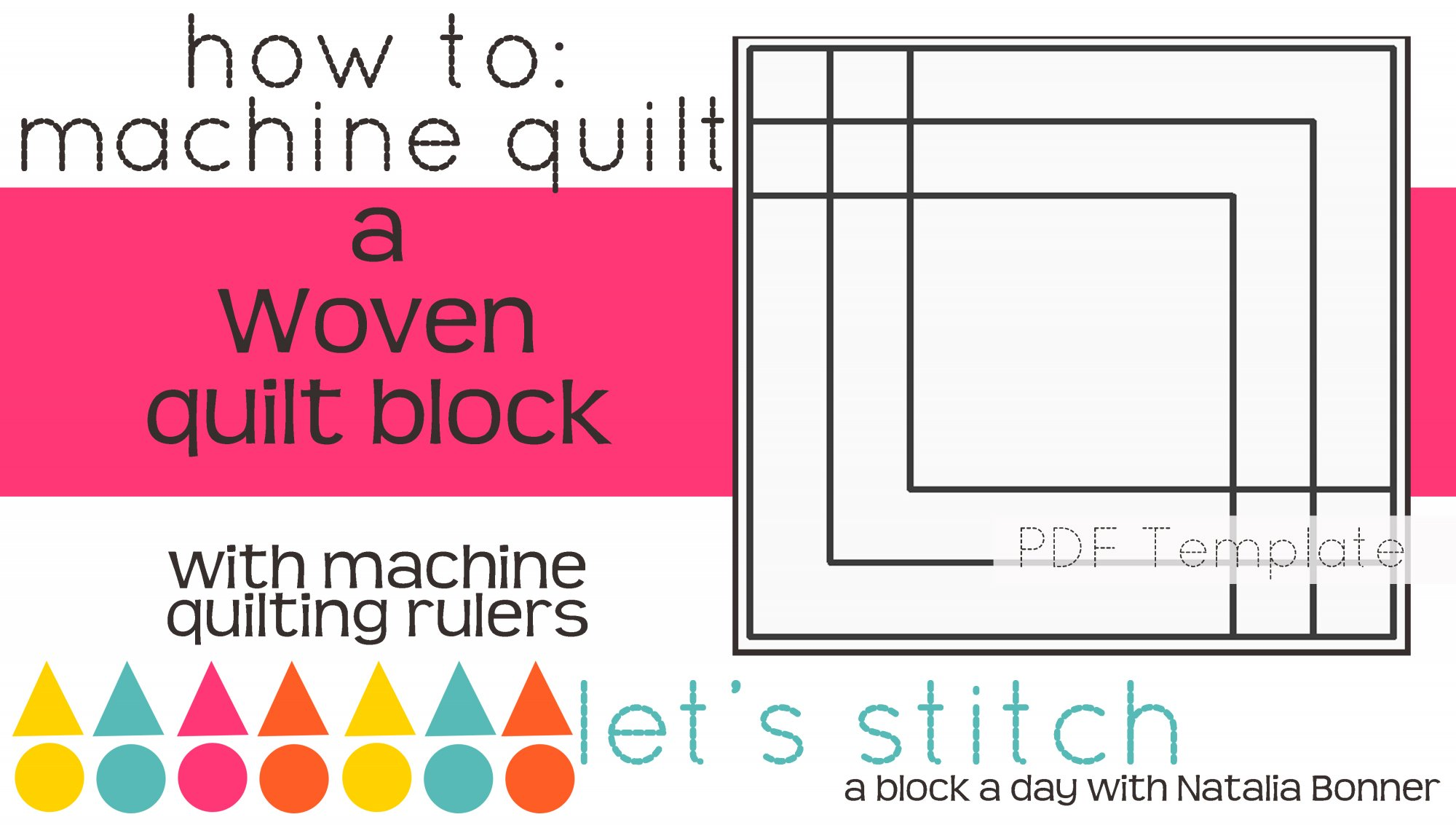 Let's Stitch - A Block a Day With Natalia Bonner - PDF - Woven