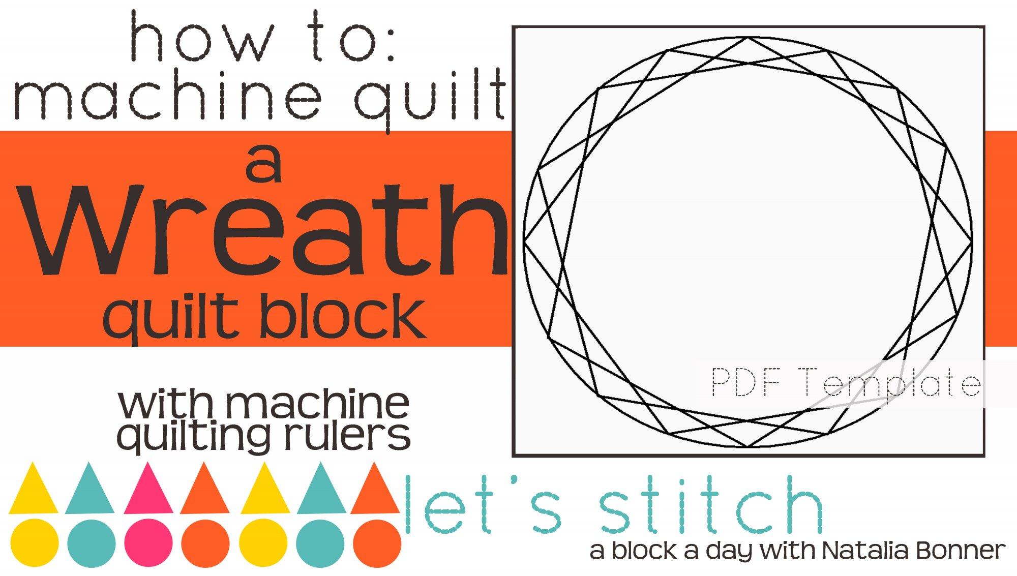 Let's Stitch - A Block a Day With Natalia Bonner - PDF - Wreath