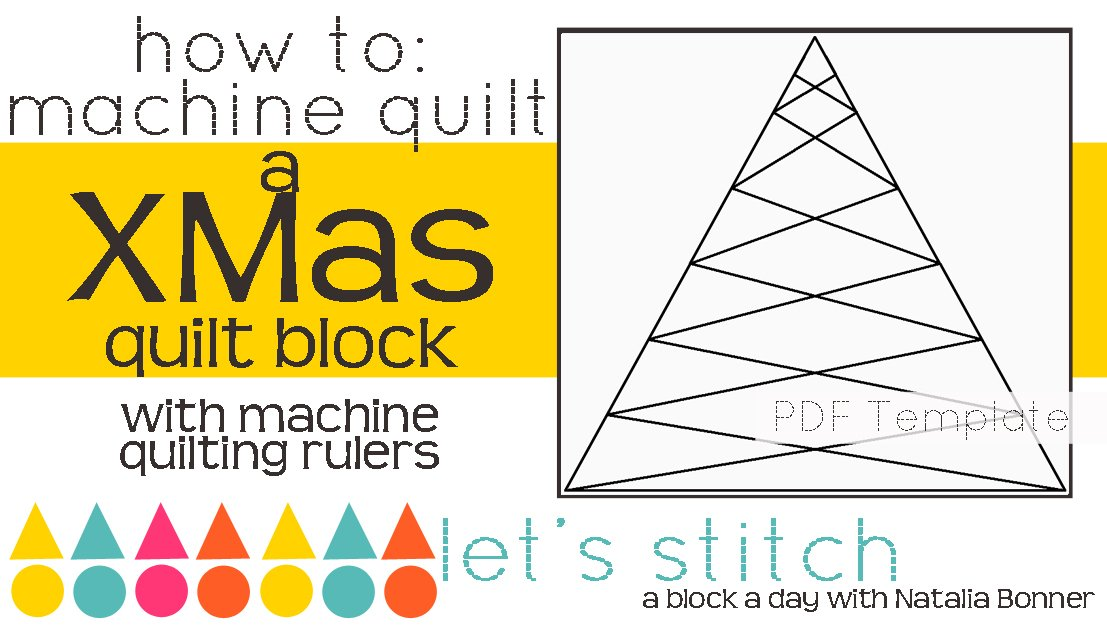 Let's Stitch - A Block a Day With Natalia Bonner - PDF - XMas