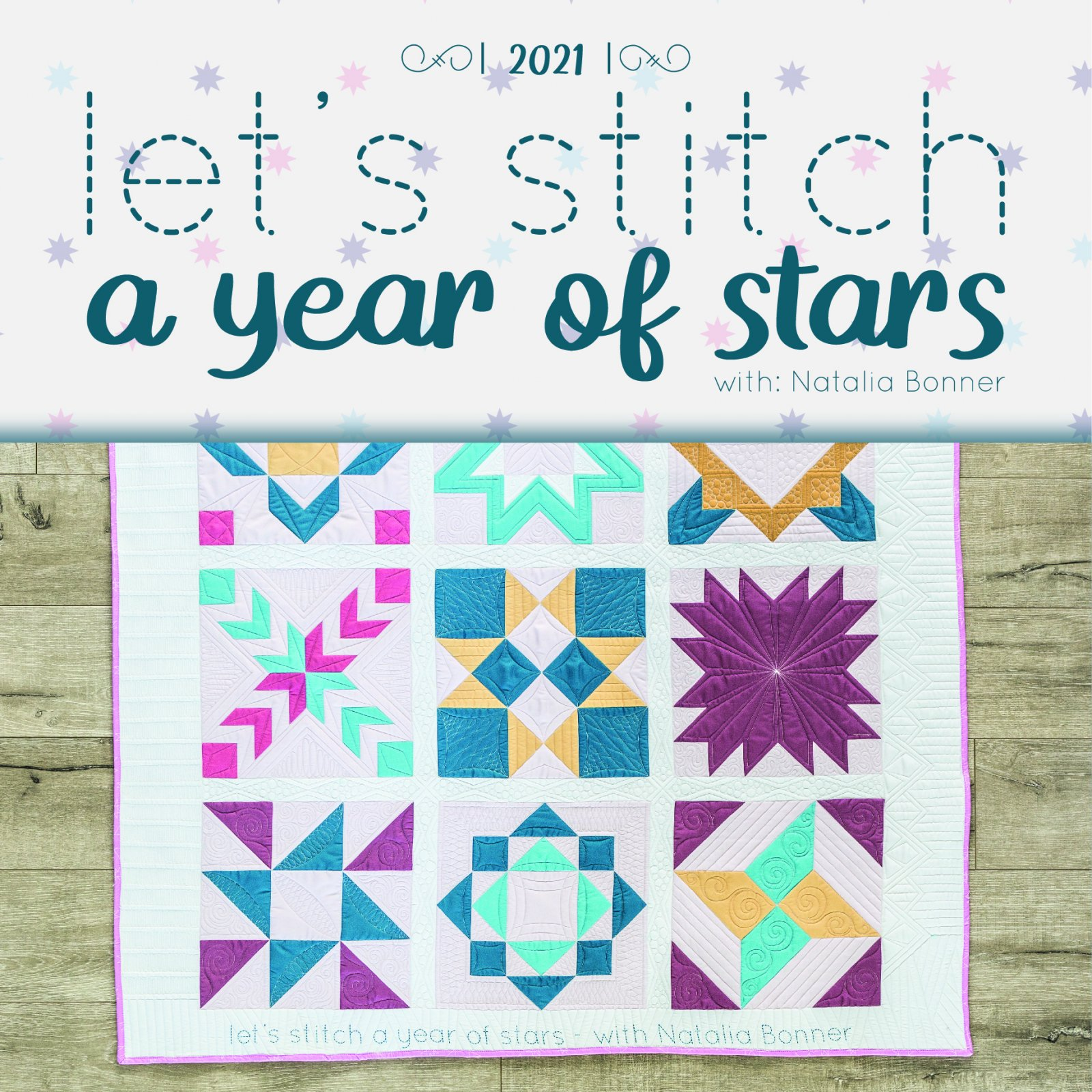 Let's Stitch - A Year of Stars - Calendar