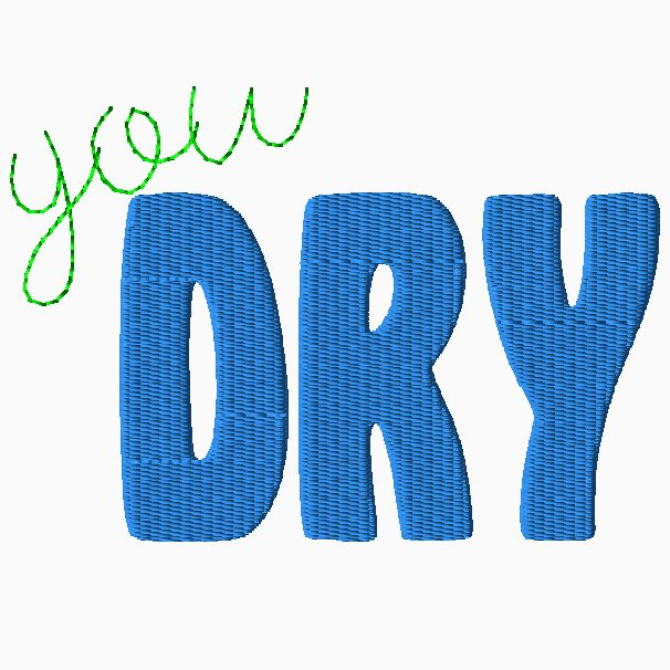 You Dry Embroidery