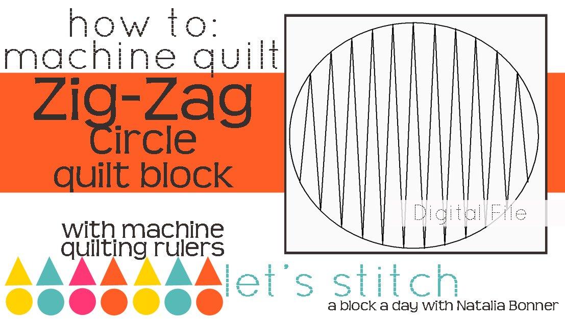 ZigZag on a Circle 6 Block - Digital