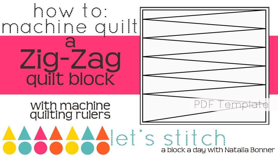 Let's Stitch - A Block a Day With Natalia Bonner - PDF - Zig-Zag