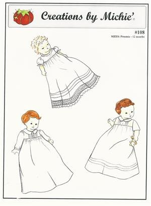 Creations by Michie - #108 Infant Gown