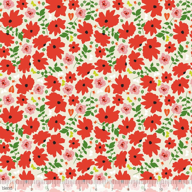 Enchanted - Red Floral