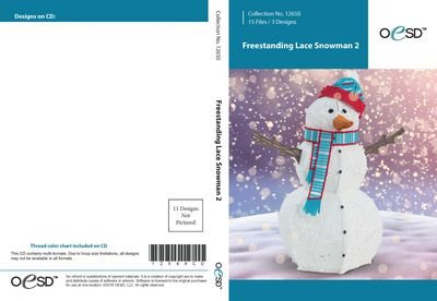 OESD - Freestanding Lace Snowman 2
