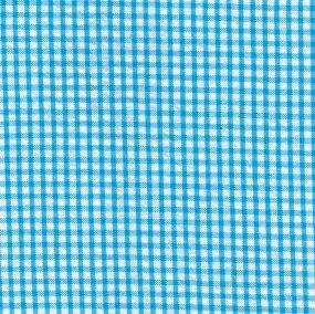 FF Seersucker - Turquoise Check