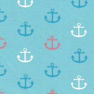 FF Print - Turquoise & Coral Anchors