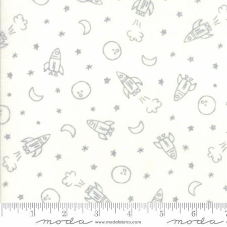 Soft Sweet Flannel -  Rockets White