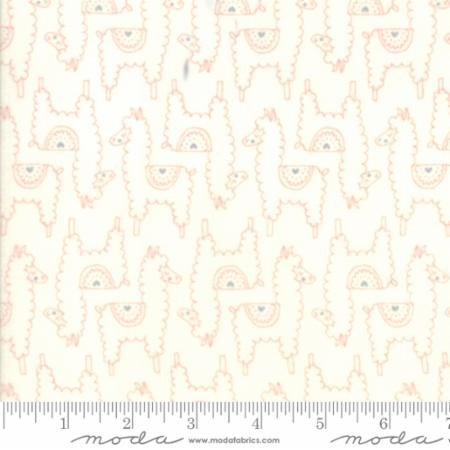Soft Sweet Flannel - Llamas White