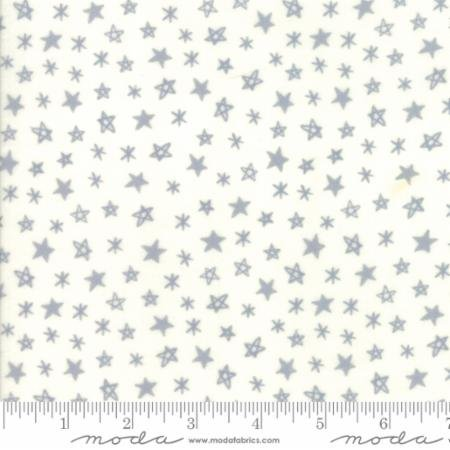 Soft Sweet Flannel - Stars White Gray