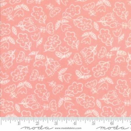 Soft Sweet Flannel - Flowers Coral