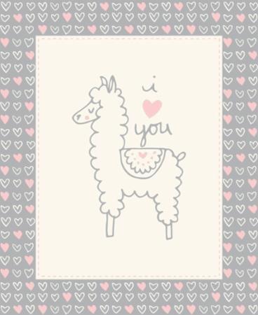 Soft Sweet Flannel -  Llama Gray