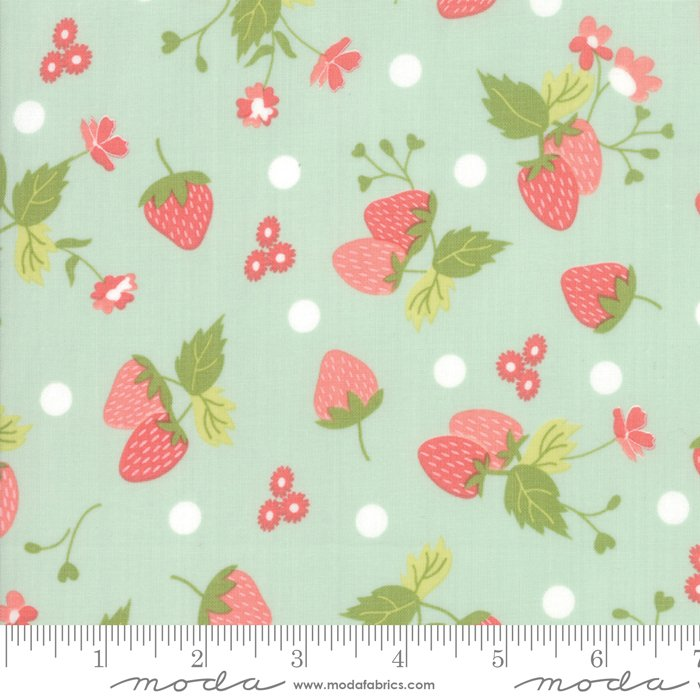 Strawberry Jam - Green Floral