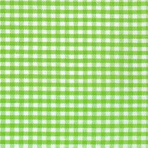 FF Gingham - Bright Lime 1/16