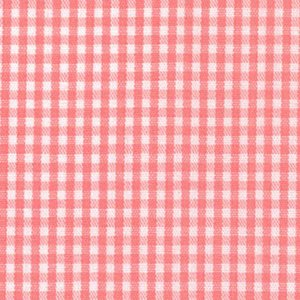 FF Gingham - Coral 1/16