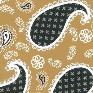 FF Print - Black and Gold Paisley