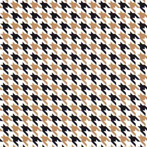 FF Print - Black/Gold Mini Houndstooth
