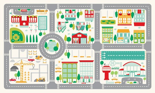 On the Go - Playmat Panel CANVAS 54 Wide