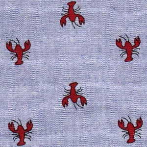 FF Print - Red Crawfish on Chambray