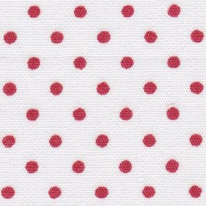 FF Print - 2175 Red Dots on White Fabric