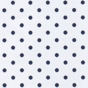 FF Print - Navy Dots on White