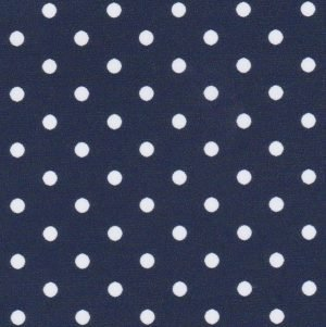 FF Print - White Dots on Navy