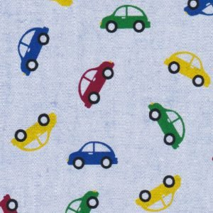 FF Print - Cars on Blue Chambray