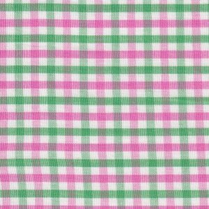FF Plaid -  Pink and Green Check Fabric T119
