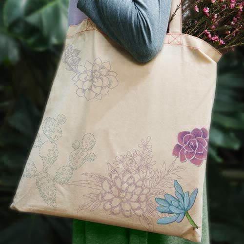 Scissortail Stitches - Succulents