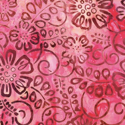 Bali Batiks - Flower Patch Strawberry